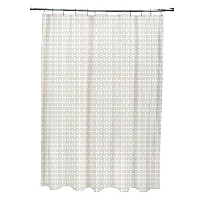 Geometric Shower Curtain Color: Latte
