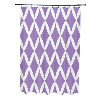 Geometric Shower Curtain Color: Heather