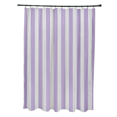 Striped Shower Curtain Color: Paloma/Lilac