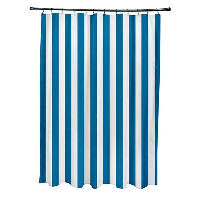 Striped Shower Curtain Color: Peacock