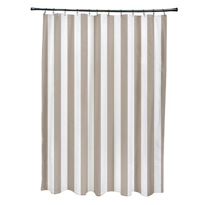 Striped Shower Curtain Color: Flax