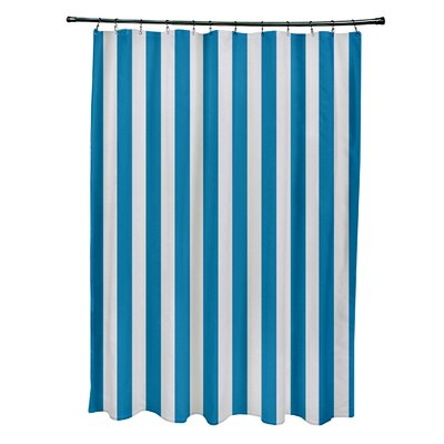 Striped Shower Curtain Color: Paloma/Peacock