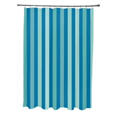 Striped Shower Curtain Color: Peacock/Jade/Bahama/Aqua/Ocean
