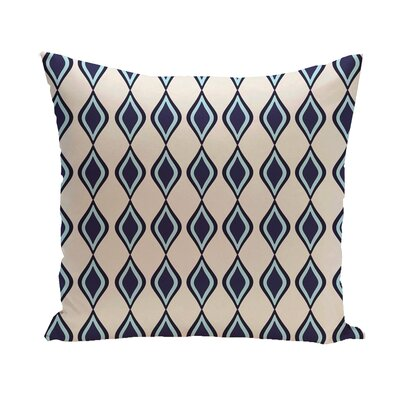 "E By Design Geometric Decorative Pillow - Size: 26"" H x 26"" W, Color: Ivory/Spring Navy/Omar/Indigo at Sears.com"