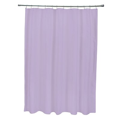 Solid Shower Curtain Color: Lilac Purple