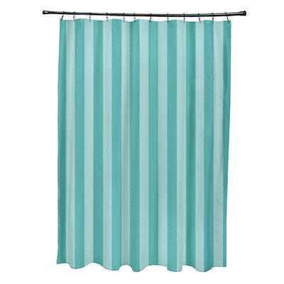 Striped Shower Curtain Color: Ocean/Jade