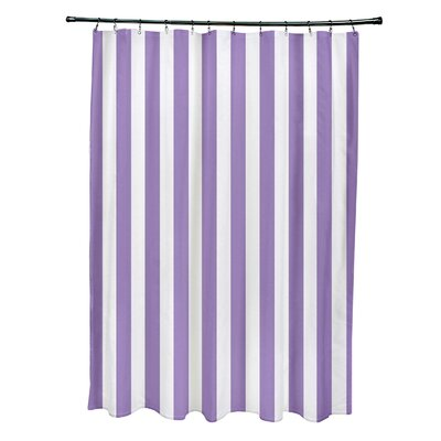 Striped Shower Curtain Color: Heather