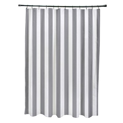 Striped Shower Curtain Color: Classic Gray