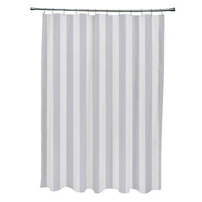Striped Shower Curtain Color: Paloma/Rain