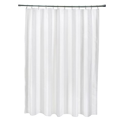 Striped Shower Curtain Color: Paloma