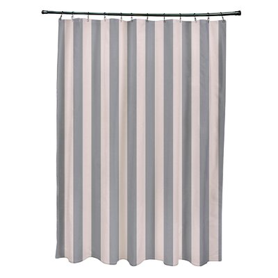 Striped Shower Curtain Color: Shell/Classic