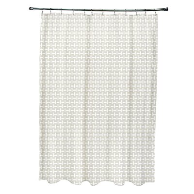 Geometric Shower Curtain Color: Flax