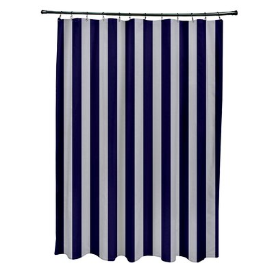 Striped Shower Curtain Color: Rain/Spring Navy