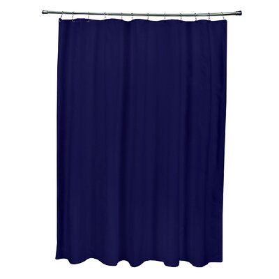 Solid Shower Curtain Color: Spring Navy