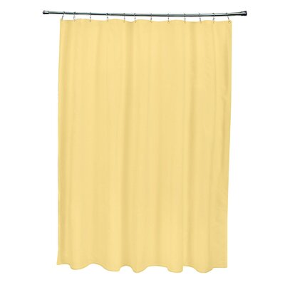 Solid Shower Curtain Color: Lemon