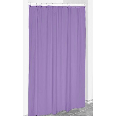 Solid Shower Curtain Color: Heather Purple