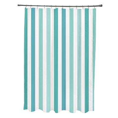 Striped Shower Curtain Color: Jade/Bahama/Aqua/Ocean