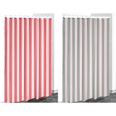E By Design Striped Shower Curtain - Color: Shell/Coral at Sears.com