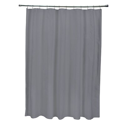 Solid Shower Curtain Color: Steel