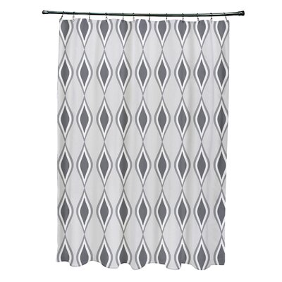Diamond Shower Curtain Color: Paloma / Classic / Steel