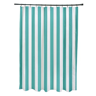 Striped Shower Curtain Color: Jade