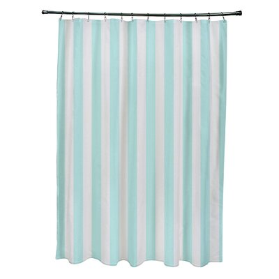 Striped Shower Curtain Color: Paloma/Ocean