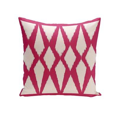 Geometric Decorative Outdoor Pillow Size: 18 H x 18 W x 1 D, Color: Fushia