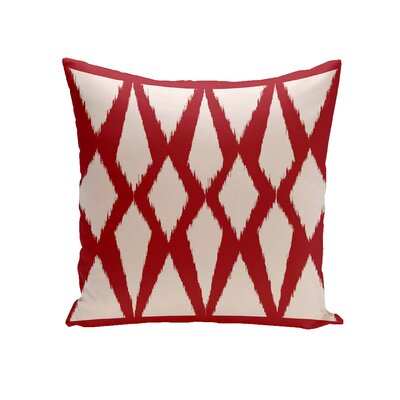 Blasingame Geometric Decorative Outdoor Pillow Color: Red, Size: 20 H x 20 W x 1 D