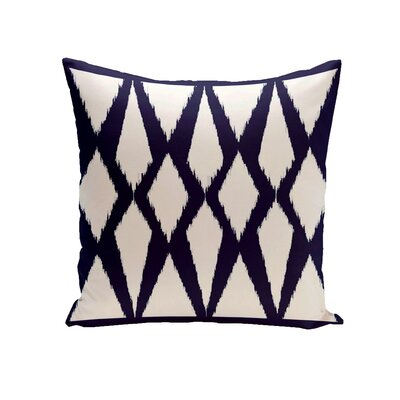 Blasingame Geometric Decorative Outdoor Pillow Color: Spring Navy, Size: 18 H x 18 W x 1 D
