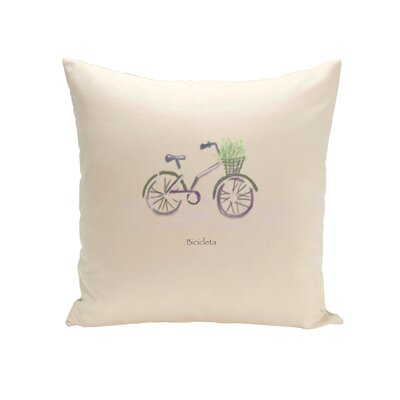 Decorative Bicileta Throw Pillow Size: 16 H x 16 W