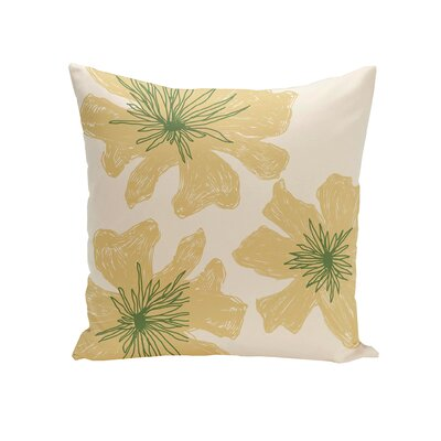 Kyd Outdoor Throw Pillow Size: 18, Color: Yellow