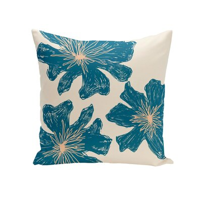 Kyd Outdoor Throw Pillow Size: 18, Color: Teal