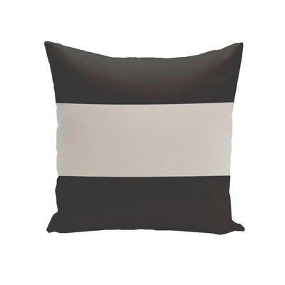 Big Stripe Horizontal Down Euro Pillow Color: Black