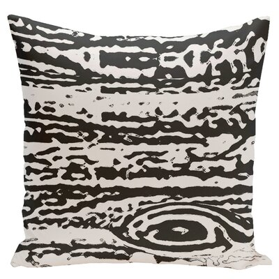 Abstract Euro Pillow Color: Black