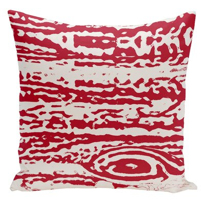 Abstract Euro Pillow Color: Red