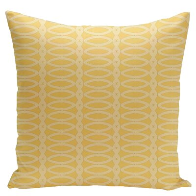 Geometric Down Throw Pillow Size: 16 x 16, Color: Lemon Soft Lemon