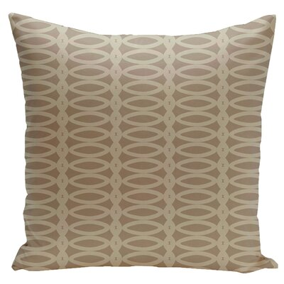 Geometric Down Throw Pillow Size: 18 x 18, Color: Flax Oatmeal