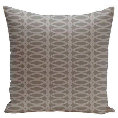 Geometric Down Throw Pillow Size: 16 H x 16 W, Color: Classic Grey Rain Cloud