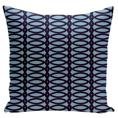Geometric Down Throw Pillow Size: 16 x 16, Color: Spring Navy Carolina