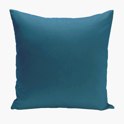 Asian Solid Euro Pillow Color: Teal
