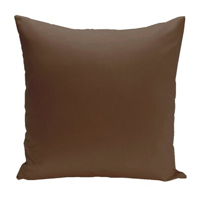Asian Solid Euro Pillow Color: Oxen