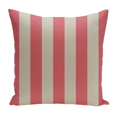 Stripe Euro Pillow Color: Latte/Coral