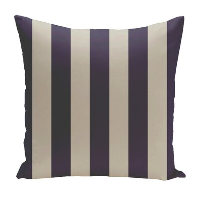 Stripe Euro Pillow Color: Latte/Spring/Navy