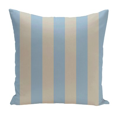 Stripe Euro Pillow Color: Carolina/Latte
