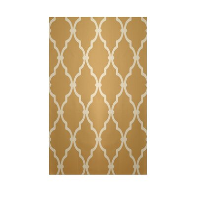 Geometric Tan Indoor/Outdoor Area Rug Rug Size: 5 x 7