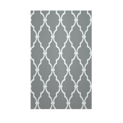 Geometric Grey Indoor/Outdoor Area Rug Rug Size: 3 x 5
