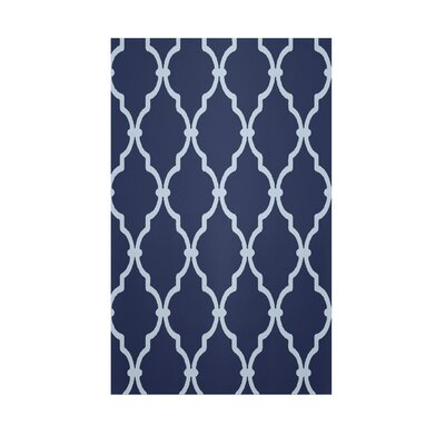 Geometric Navy Blue Indoor/Outdoor Area Rug Rug Size: Rectangle 2 x 3