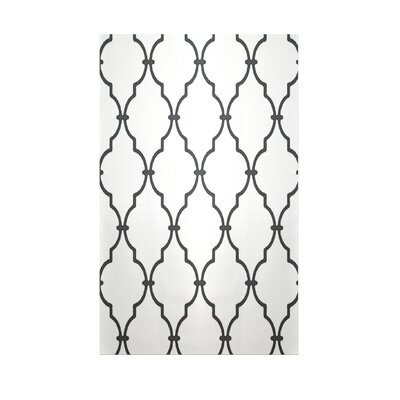 Geometric White Indoor/Outdoor Area Rug Rug Size: 5 x 7