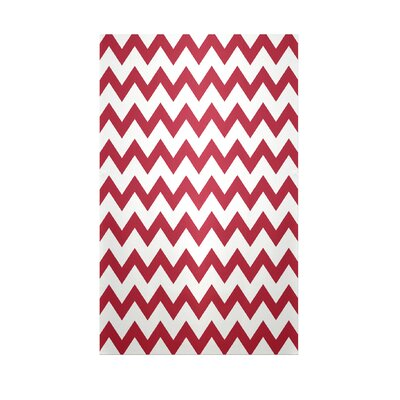 Chevron Red Indoor/Outdoor Area Rug Rug Size: 2 x 3