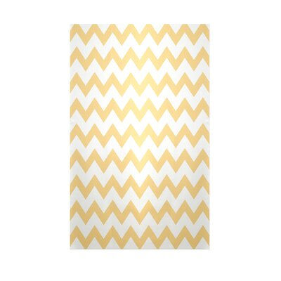 Chevron Yellow Haze Indoor/Outdoor Area Rug Rug Size: 4 x 6
